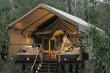 De alumínio estalar acima a barraca ao ar livre do partido de feriado da casa de madeira
