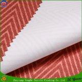 Tissu de flocage imperméable à l'eau tissé de rideau en guichet d'arrêt total de franc de polyester