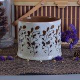 De unieke Ceramische Container van de Kaars met het Schilderen van de Hand eindigt