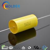 Type plat jaune axial de condensateur de film du polypropylène Cbb20 métallisé par 825j/250V