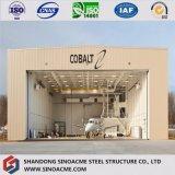 Hangar structural en acier modulaire d'hélicoptère de grande envergure
