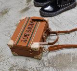 熱い方法女の子のハンドバッグ有名なデザインブラウンPUボックス袋の小さいショルダー・バッグSy8154