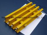 Rejas con los clips de la montura, fibra de vidrio cerrada fuertemente, reja del plástico reforzado fibra de vidrio