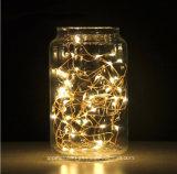 크리스마스 최신 판매 건전지는 40의 다중 색깔 LED 요전같은 끈 빛을 운영했다