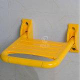 목욕탕 적합한 백색 노란 나일론 덮개 Foldable 샤워실 의자