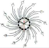 Cristal rotativa de metal redondas decorativa relógio de parede