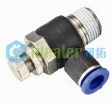 Ajustage de précision en laiton pneumatique de contrôleur de vitesse avec du ce (JSC1/4-N03)