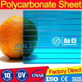 Лист полого поликарбоната высокого качества пластичный с UV покрытием
