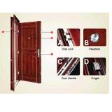 Portello di entrata di legno d'acciaio di alta qualità di Hotsale