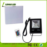 China Fornecedor Holofote LED 85-265V PI65 10W 20W 30W 50W 100W 150W Controle remoto muda de cor RGB Holofote LED de exterior