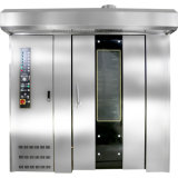 64 Diesel Industrial bandejas Rack rotativa de aire caliente el horno de panadería de equipo, aprobado CE