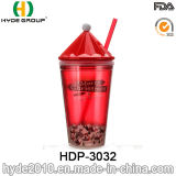 BPA promocionales liberan la taza plástica del vaso del jugo con la paja (HDP-3032)