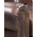 Sofá superior del cuero del sofá del cuero de grano para la sala de estar