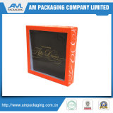 Embalagem Fornecedor Caixas de papelão personalizado com plástico Clear Window Box para camisola