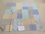 Colcha de patchwork de algodão floral impresso