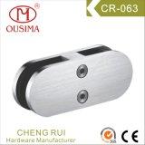 ガラスステンレス鋼の手すりクランプ(CR-063)へのガラス
