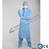 Vestido impermeable quirúrgico protector disponible del aislamiento de SMS, vestidos no tejidos