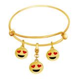 De Douane Emoji van de Juwelen van de manier charmeert de Regelbare Armband van de Armband van de Draad
