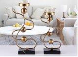 Supporto di candela placcante della decorazione del metallo