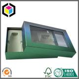 Rectángulo de papel del PVC de la cartulina clara de la ventana con la tabulación colgante