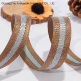 Weihnachtsriemen gesponnenes Seil-gewebtes Materialkundenspezifisches Grosgrain-Satin-Farbband