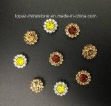 Nueva y de calidad superior configuración de la garra de la flor del cristal de 9m m adentro para coser en la ropa (cristal redondo del jacinto de TP-9mm)