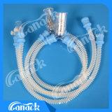 Circuito de respiração do silicone médico dos produtos com a armadilha de água dois