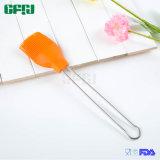 Escova de guloseima de cerdas de silicone com qualidade alimentar com alça de aço inoxidável