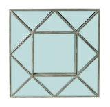 Rectangle Wooden Mirror Frame Accent Wall Decor