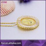 Monili Pendant di pietra della collana della CZ placcati oro caldo di vendita 2016