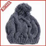 Chapéu de crochê de malha de acrílico
