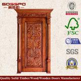 Modèle en bois classique de porte d'entrée principale (GSP2-071)