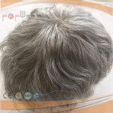 灰色の人間の毛髪のQualtiyメンズToupee (PPG-l-010551)