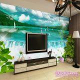 Papel pintado mural del fondo del papel pintado de las etiquetas engomadas de encargo de la pared de los murales de la TV