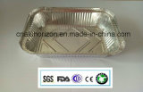 Bandeja caliente del papel de aluminio del hogar de la venta para la asación