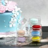 Boîte en plastique claire de Macarons d'animal familier