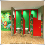 Flower Shape Children Nursery Toilet Partition with Feet