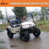 Автомобиль гольфа челнока 2 Seater крытый без крыши, подгонянной тележки гольфа цвета Tan электрической
