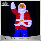 Nouvelle lumière acrylique de Decoratons de père de Noël de la Chine DEL de produit
