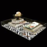 カスタム明確なアクリルのペーパー挿入皿、挿入ペーパーが付いているアクリルの皿