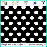 Preiswerter Kreis-PUNKT gedrucktes Gewebe des Polyester-600d mit Belüftung-Schutzträger für Rucksack-Beutel