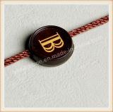 Etiqueta plástica de la caída de la manera del sello de la ropa de encargo de las etiquetas para la ropa