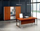 Het moderne L-vormige Bureau van de Manager van het Bureau Uitvoerende met ZijLijst (HF-LTA166)
