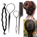 4PCS il tiro nero della plastica DIY ferma i capelli con una graffetta per le forcelle delle donne