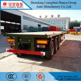 50-60t 40FT dei 3 assi del contenitore rimorchio a base piatta semi per trasporto