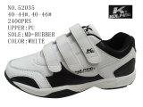 Numéro 52035 le sport blanc d'hommes de couleur chausse les chaussures courantes de Velcro