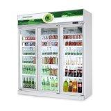 В вертикальном положении дисплей коммерческих Охладитель для напитков холодильник