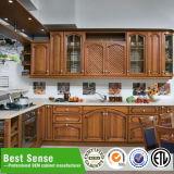 Moderne Kirsche fertiger Bildschirmanzeige-hölzerner Küche-Schrank für Verkauf