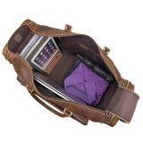 preço de fábrica Grande Capacidade Duffle bag marrom Retro Crazy Horse Mala de viagem de couro