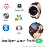 téléphone intelligent de la montre 3G avec le réseau sans fil de WiFi (X5)